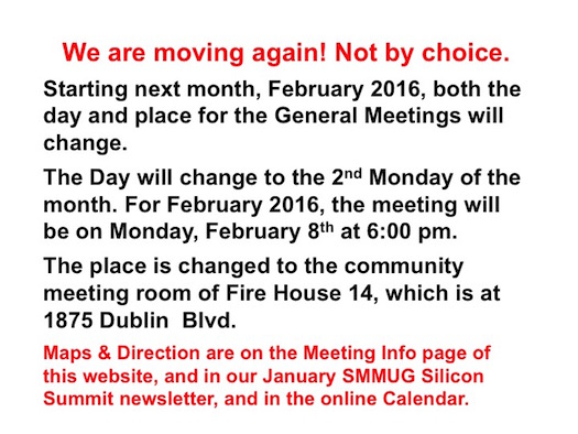 We are moving again